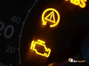 Close Up of Check Engine Light Symbol