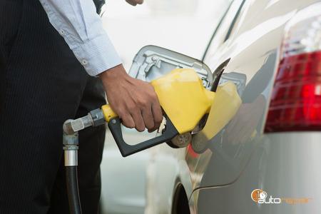 Car Fill Up at Gas Station